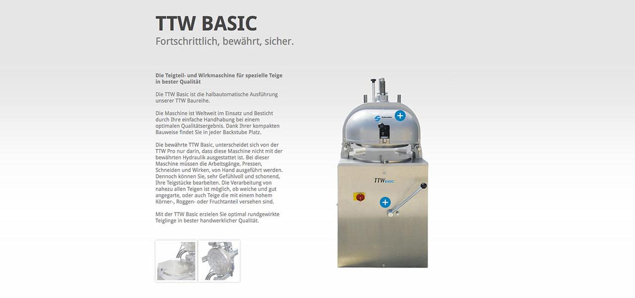 Detailansicht einer Maschine von Schneider Bäckereisysteme