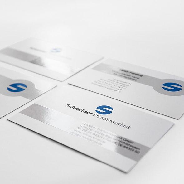 Visitenkarte von Schneider Präzesionstechnik