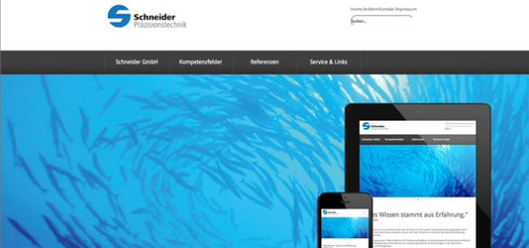 Schneider Präzisionstechnik Webdesign