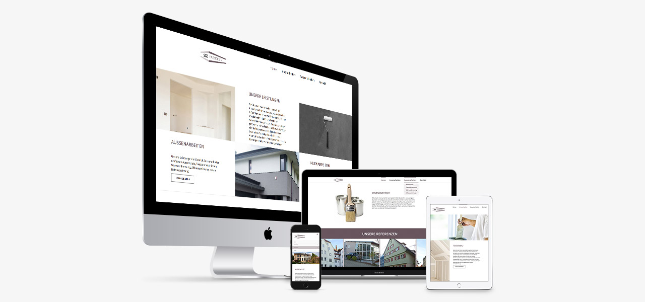 Übersicht über die Darstellung der responsiven Website von Le Coupe auf verschiedenen Geräten