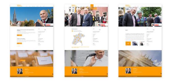 Übersicht über 3 Unterseiten der responsiven Website von Waldemar Westermayer