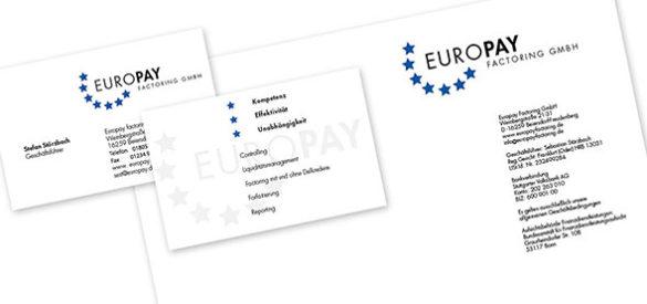 Briefpapier & Visitenkarten. Erstellte Medien des Corporate Designs