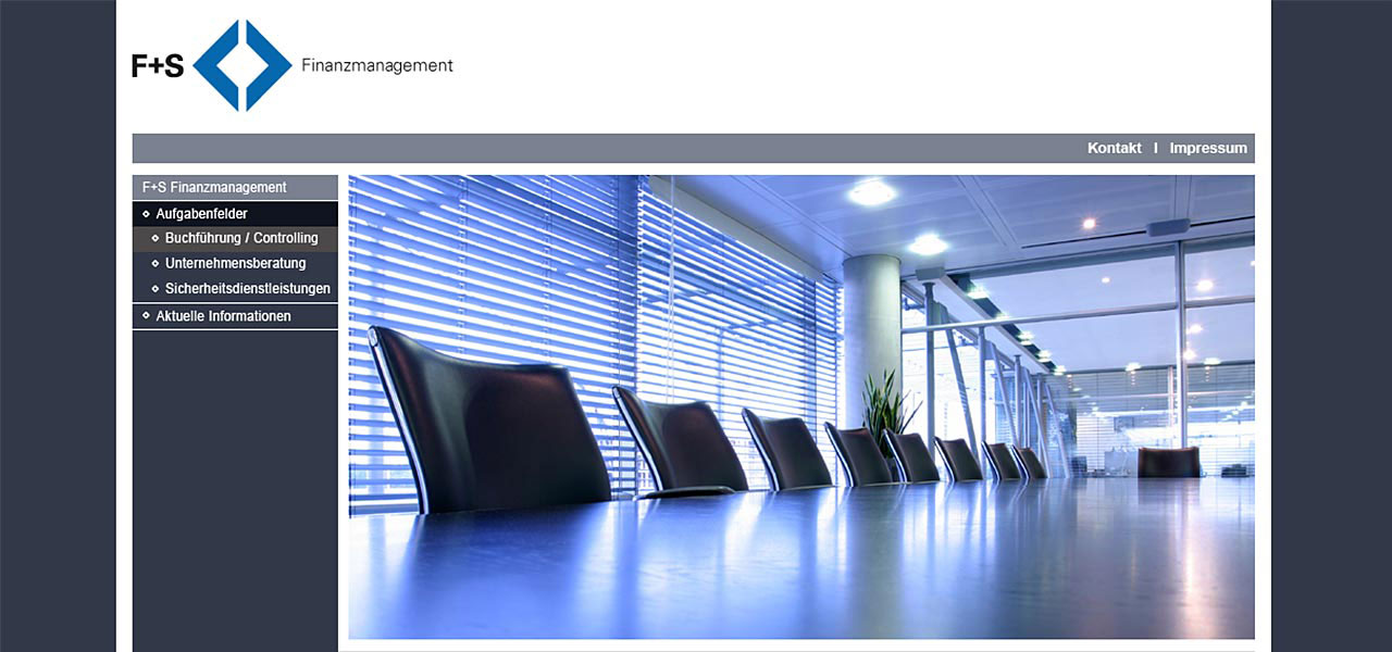 Website der FS Finanzmanagement GmbH