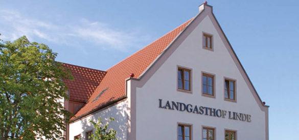Foto der Hausfront des Landgasthofs Linde