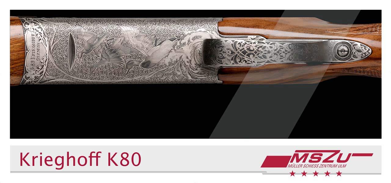 Ein Gewehrlauf von Oben. Gestaltung im Stil des entwickelten Corporate Designs