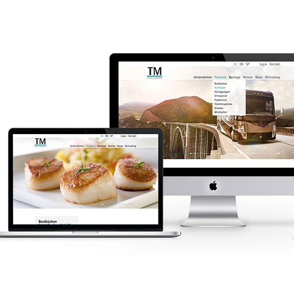 Responsive Website für TM