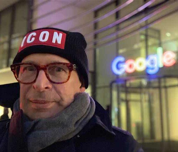 Der Geschäftsführer der AKSIS Werbeagentur Ulm, Herr Aksiuk, zu Besuch bei Google