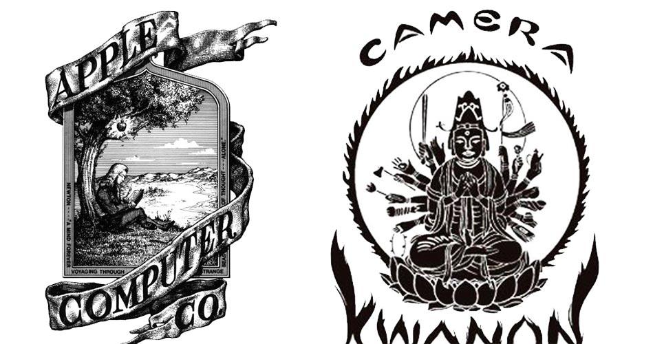 Logos im Wandel der Zeit Apple und Canon   Aksis