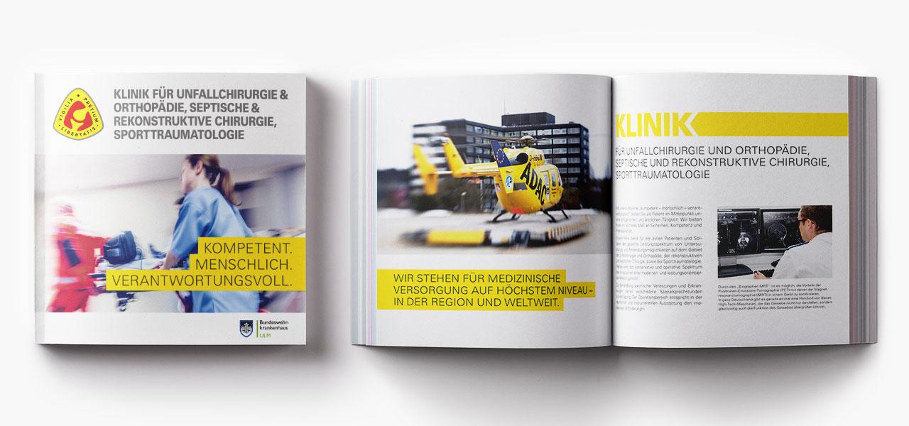 Imagebroschüre, Geschäftsausstattung des BWKs Ulm, neu gestaltet von der AKSIS Werbeagentur