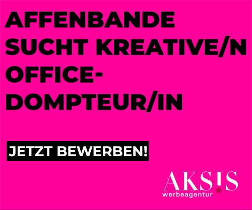 Affenbande sucht kreative/n officedompteur/in