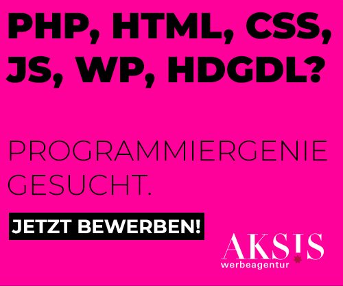 PHP, HTML, CSS, JS, WP, HDGDL? Programmiergenie gesucht.