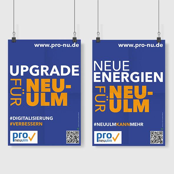 Pro Neu-Ulm Sloganplakate