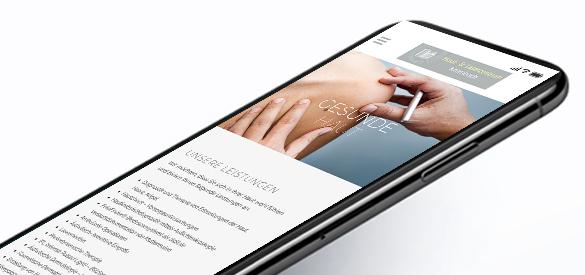 Haut und Laserzentrum iPhone Ansicht